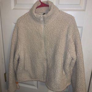 Sherpa Fur Zip-Up Jacket size M